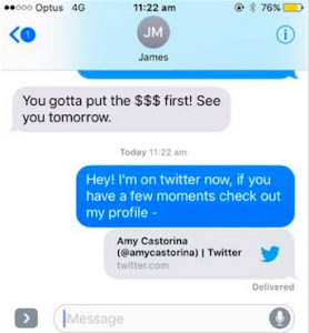 Twitter Real Estate Text