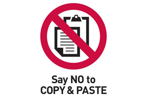 Say no to copy and paste image